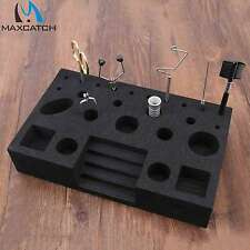 Maxcatch Fly Tying Tool Caddy Fly Bench Black Foam Tool Holder Fly Tying Station