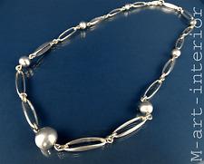 Modernist Alton sterling argent collier chaîne silver necklace sweden 60s vintage