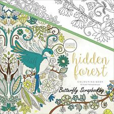 Hidden Forest Coloring Book For Markers Watercolors Pencils Kaisercraft New