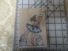 Penny Black Catch a Star Ballerina & 2 rabbits wood mounted  wm rubber stamp