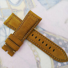 26mm 125/75 Brown Nubuck Calf Leather bands Strap Watchwand For Wristwatch