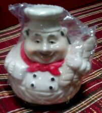 FAT CHEF ITALIAN BREAD KITCHEN DECOR CERAMIC GREEN SPONGE HOLDER 4.5""