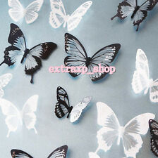 18pcs 3D PVC Butterflies DIY Butterfly Art Decal Home Decor Wall Mural Stickers