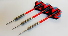 20g Tungsten Steel Tip Darts with Clear Red Stems + Strong flights