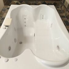 """Carver Tubs TPL7248 72"""" by 48"""" Drop-In Center Drain 12 Whirlpool Jetted Bathtub"""