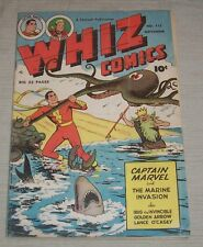 WHIZ COMICS #115 1949 FAWCETT COMICS CAPTAIN MARVEL HIGH GRADE GOLDEN AGE!!