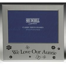 "Photo Frame -  WE LOVE OUR AUNTIE  5"" x 3.5"" *NEW* Gift"