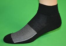 6 pr Men's Black Performance Merino Wool Quarter Running Socks…Sz 10-13 Lg….