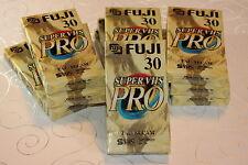 10 x Video Kassette Leer Fuji Super VHS Pro SE-30 SE 30 SVHS S-VHS = 5€/St.