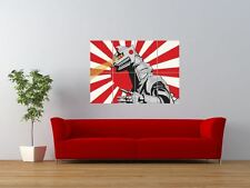 MECHA GODZILLA RISING SUN LASER EYES GIANT ART PRINT PANEL POSTER NOR0028