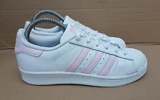 RARE ADIDAS SUPERSTAR SHELL TOE TRAINERS WHITE BABY PINK REPTILE SIZE 5 UK