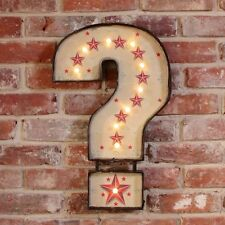 QUESTION MARK Light up LED bulb Carnival Sign Wall art Circus Bedroom Living