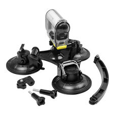 9cm Triple Suction Cup Mount+Arm Extension For Sony Action HDR-AS20/30/100/200V