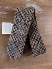 auth HOLLIDAY & BROWN hand made skinny plaid wool tie - NWT