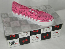 Hello Kitty VANS Pink Authentic LADIES 5.5 NICE CHRISTMAS GIFT FREE USA SHIPPING