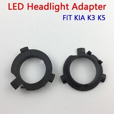 2pcs H7 LED Car Bulb Adapter Holder Headlight For KIA K3 K5 IX45 Sorento Santafe