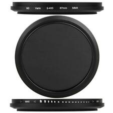 67mm-Variable Neutral Density ND Fader Filter Lens ND2 ND8 ND16 to ND400