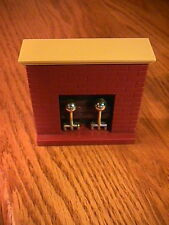 VINTAGE FISHER PRICE DOLLHOUSE FURNITURE FIREPLACE  HONG KONG F - P TOYS