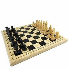 CHESS DRAUGHTS Wooden 29 cm Set - Strategy Game