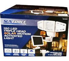 Sunforce 150 LED Solar Motion Security Light Sensor Light 1000 Lumens NEW