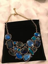 Joan Rivers blue faux stone necklace