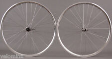 H Plus Son Archetype Silver Rims Shimano 105 Road Bike Wheelset 8 9 10 11 Speed
