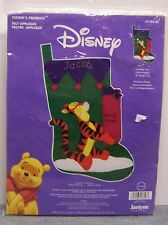 "Janlynn Disney Felt Applique Craft Kit "" Tiggers Presents "" Christmas Stocking"