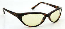 Men Driving Sunglasses Brown Oval Yellow Lens Women Vintage Sport Style