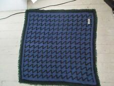vintage Carita Paris wool Scarf 32 by 30 abstract  geometric modernistic