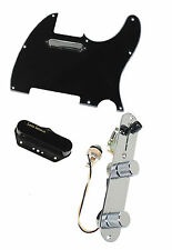 Fender Tele Telecaster Loaded Pre-wired Pickguard Lace Tele Plus Pickups BK