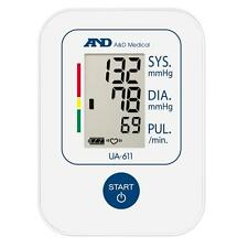 A&D Medical UA611 Easy To Use Upper Arm Basic Blood Pressure Monitor White - New