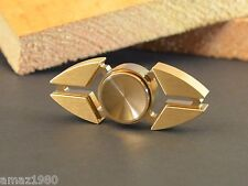 Dual Bar Brass Hand Spinner Fidget Toy with Brass End Caps