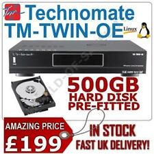 Technomate TM-Twin-OE Enigma 2 Linux HD PVR Twin Tuner Sat Receiver +500GB