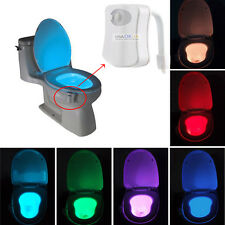 8 Colors LED Toilet Bathroom Night Light Human Motion Sensor Activated Seat Lamp