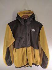 The North Face Denali Hoodie Fleece Jacket - Men's Size Medium - Yellow & Gray