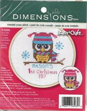 Counted Cross Stitch Kit BABY'S FIRST CHRISTMAS For GIRL Dimensions NEW RELEASE!