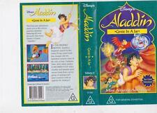 ALADDIN GENIE IN A JAR  VHS VIDEO PAL~ A RARE FIND