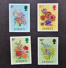 Jersey 1974 Spring Flowers 4v Imperf Proofs UMM  stamps