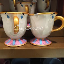 BEAUTY AND THE BEAST CHIP GOLD TEA CUP MUG ADORABLE DISNEY PARK NEW