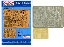 "Marabu Models 1/72 YOKOSUKA D4Y1-3 SUISEI ""JUDY"" Photo Etch Detail Set"