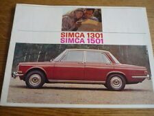 SIMCA 1301 AND 1501 CAR SALES BROCHURES  EARLY 1970's