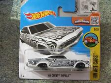 Hot Wheels 2016 #191/250 1965 CHEVY IMPALA white HW ART CARS Case J