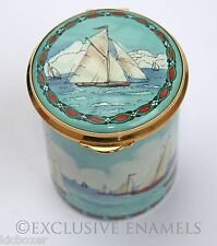 Staffordshire Enamels Yachting Sailing  Enamel  Box