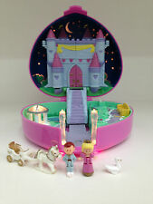 POLLY POCKET 1992 LIGHT UP Starlight Castle *COMPLETE w/ SWAN & GOLD LOGO*