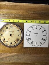 Vintage / Antique Ingraham Mantle Clock Dial Pan and Paper Dial(Clock Parts 343)