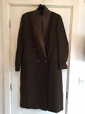 BNWT All Saints Moss Wool Goat Suede UNA Coat Jacket UK 12 RRP £398 New Season