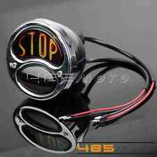 "New Vintage ""Stop"" Stainless Steel Rear Taillight Lamp For Harley Chopper Bobber"