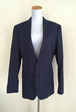 $358 NWT Jcrew Men 36R Crosby Suit Jacket Italian Cotton Pique French Navy B8898
