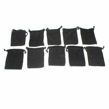 10 Pieces Black Velvet Cloth Jewelry Pouches / Drawstring Bags / Headphones Bags