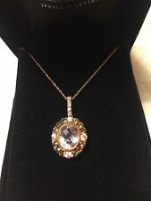 New Le Vian 14k Rose Gold, Pink Amethyst Necklace Retail $1,600 Princess Alexand